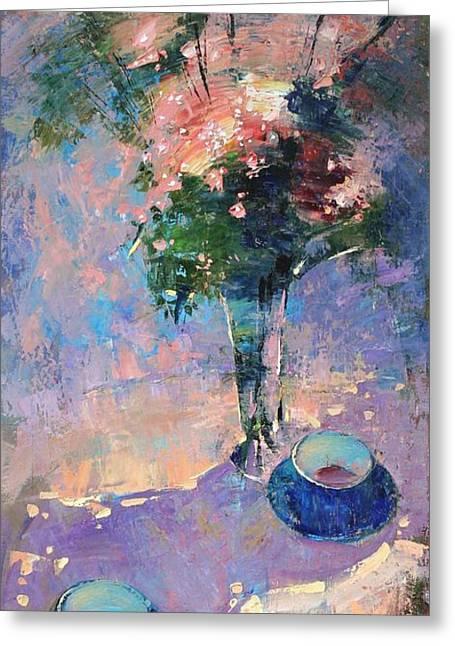 Tea Ceremony Greeting Card by Anastasija Kraineva