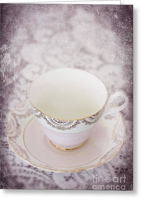 Old Relics Digital Greeting Cards - Tea Cup Greeting Card by Svetlana Sewell