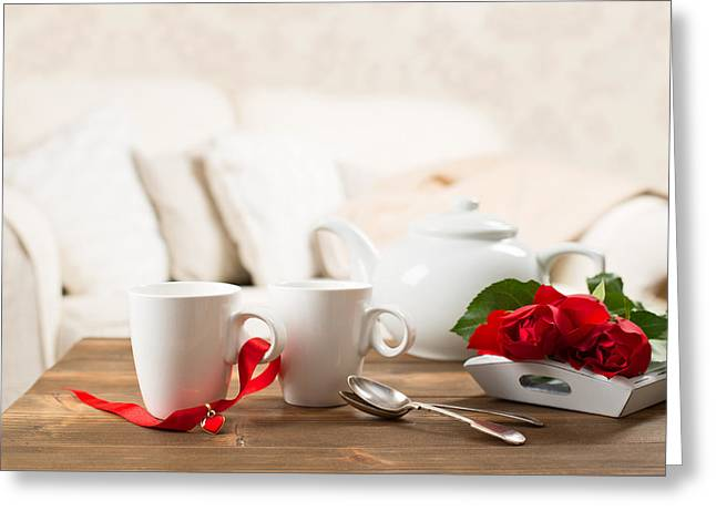 Tea Cups Greeting Card by Amanda And Christopher Elwell