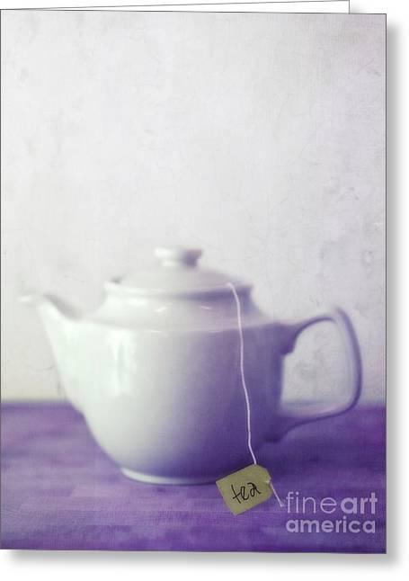 Jugs Greeting Cards - Tea Jug Greeting Card by Priska Wettstein