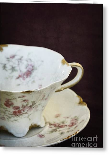 Vintage China Greeting Cards - Tea Greeting Card by Margie Hurwich