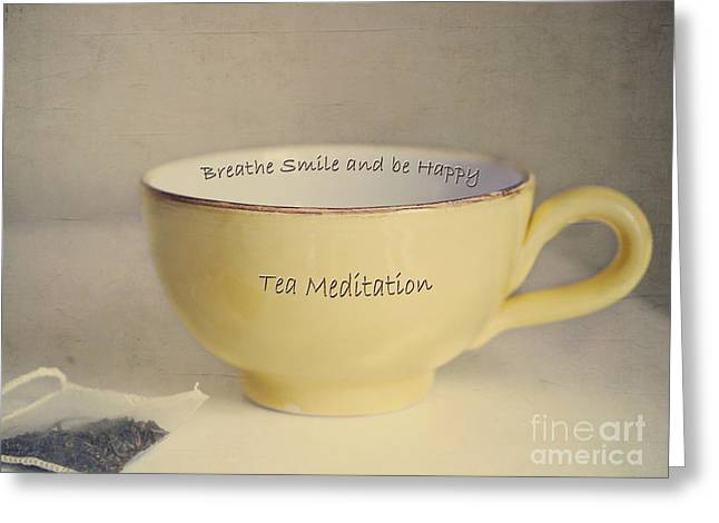 Tea Meditation Greeting Card by Irina Wardas