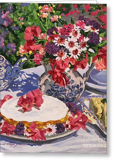 Tea Party Greeting Card by David Lloyd Glover