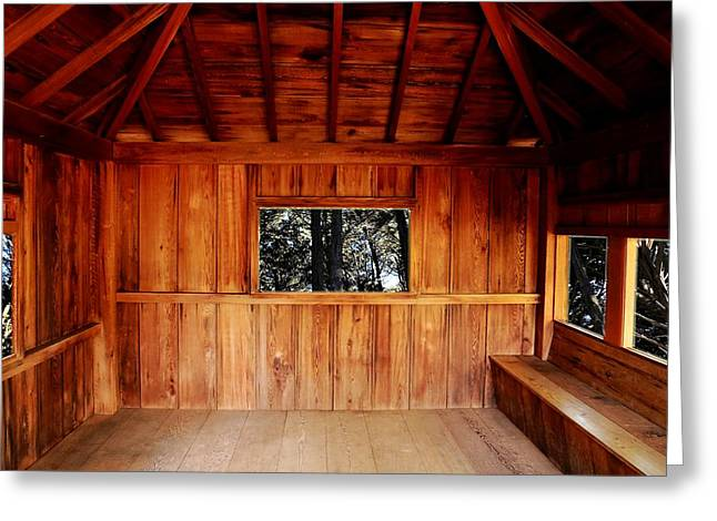 Bamboo House Greeting Cards - Tea Pavilion Greeting Card by Scott Hill