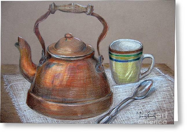 Patricia Januszkiewicz Greeting Cards - Tea Pot Greeting Card by Patricia Januszkiewicz