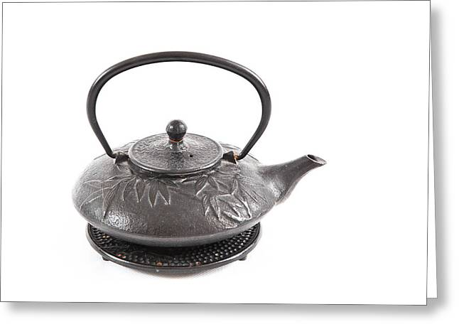 Oriental Teapot Greeting Cards - Tea pot Greeting Card by Tom Gowanlock