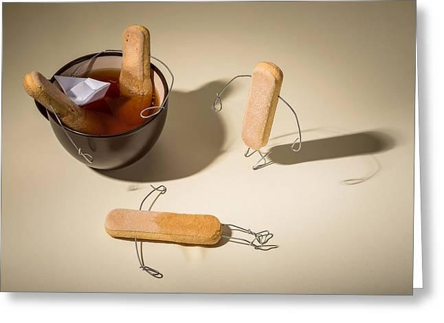 Tea Time Greeting Card by Dobromir Dobrinov