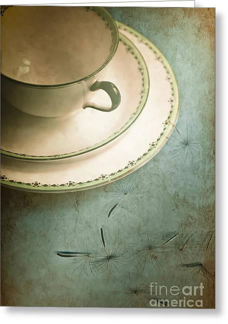 Tea Time Greeting Card by Jan Bickerton
