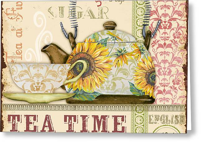 Green Beans Greeting Cards - Tea Time-JP2581 Greeting Card by Jean Plout