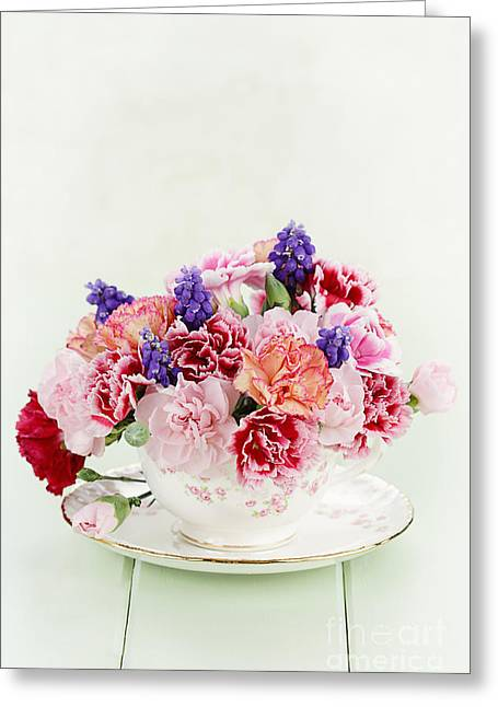 Feminity Greeting Cards - Tea Time Greeting Card by Stephanie Frey