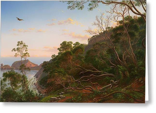 Tea Tree Greeting Cards - Tea Trees near Cape Schank Victoria Greeting Card by Eugene von Guerard