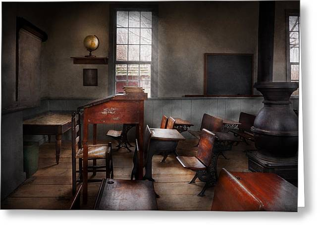Back To Life Greeting Cards - Teacher - The education system Greeting Card by Mike Savad