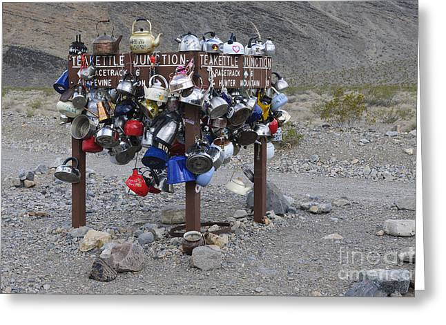 Teakettles Greeting Cards - Teakettle Junction, California Greeting Card by John Shaw