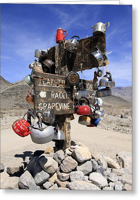 Teakettles Greeting Cards - Teakettle Junction Greeting Card by Rick Pisio
