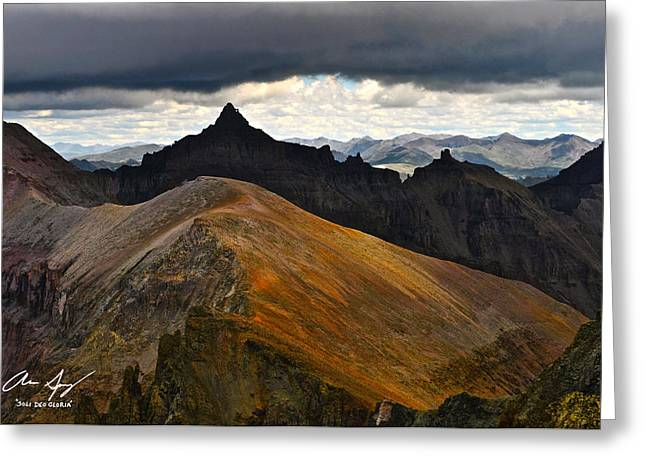 Teakettle Mountain Greeting Card by Aaron Spong