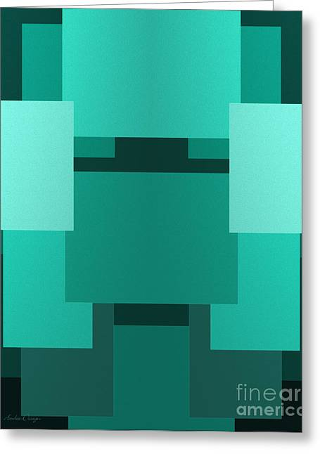 Andee Photography Greeting Cards - Teal On Teal 11 Greeting Card by Andee Design