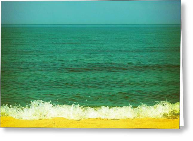 Teal Waters Greeting Card by Michelle Calkins