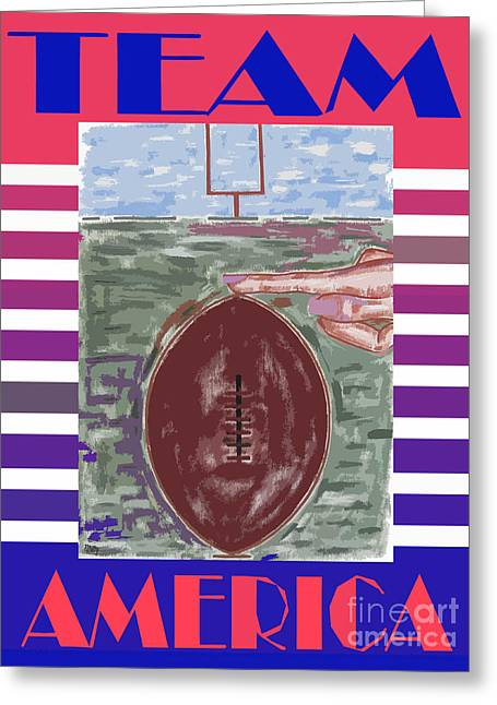 T Shirts Mixed Media Greeting Cards - Team America Greeting Card by Patrick J Murphy