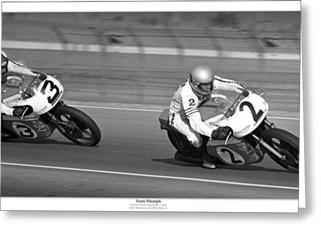 Team Triumph Greeting Card by Lar Matre