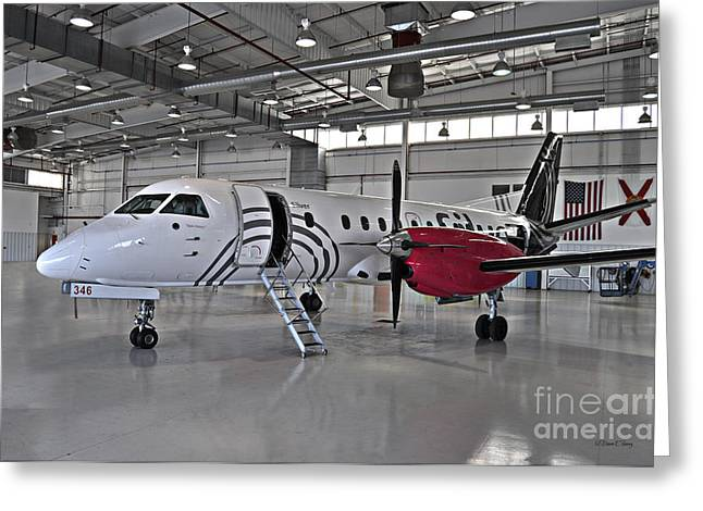 Commuter Plane Greeting Cards - Team Victory 2 Greeting Card by Diane E Berry