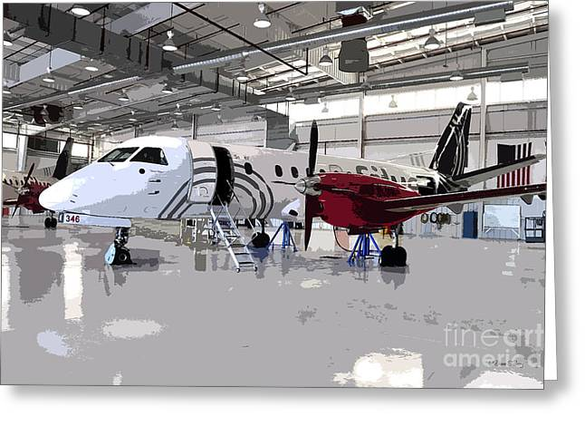 Commuter Plane Greeting Cards - Team Victory Greeting Card by Diane E Berry
