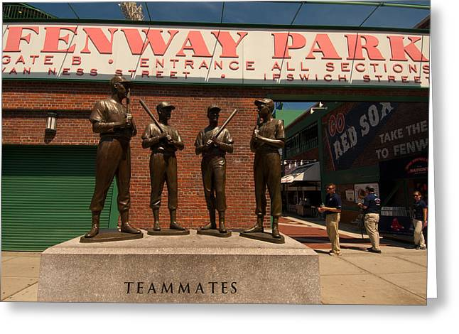 Fenway Park Greeting Cards - Teammates Greeting Card by Paul Mangold