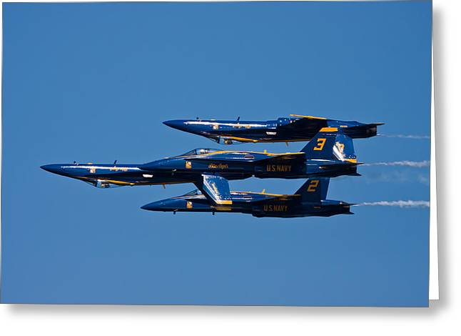 Air Shows Greeting Cards - Teamwork Greeting Card by Adam Romanowicz