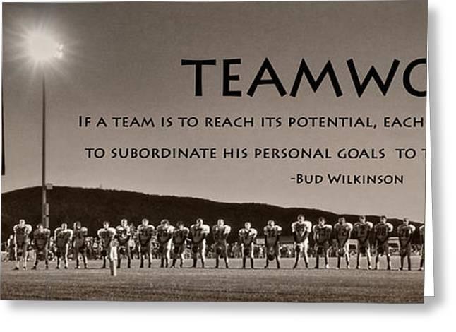 Teamwork Greeting Card by Lori Deiter