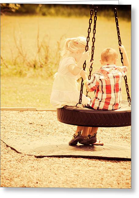Little Boy Greeting Cards - Teamwork Greeting Card by Off The Beaten Path Photography - Andrew Alexander