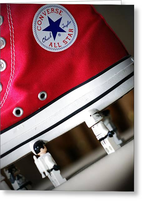 Converse Greeting Cards - Teamwork Greeting Card by Todd Skiles