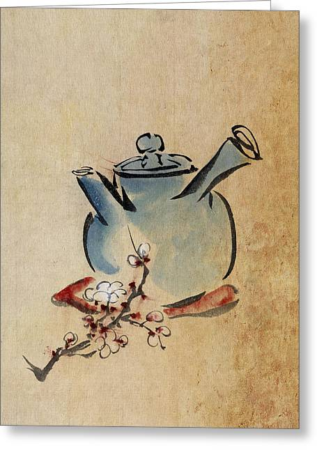 Beverage Digital Art Greeting Cards - Teapot Greeting Card by Aged Pixel