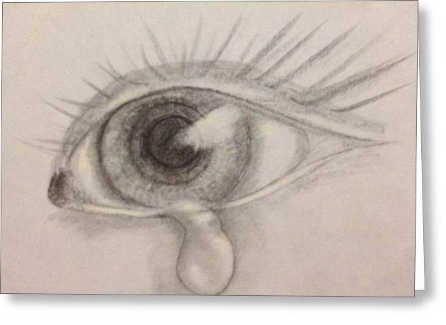 Tear Greeting Card by Bozena Zajaczkowska