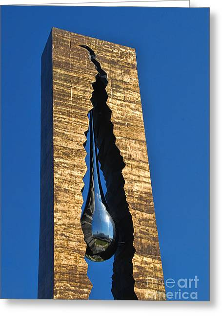 Terrorism Greeting Cards - Bayonne New Jersey 9-11 Memorial Greeting Card by Allen Beatty