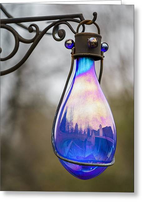 Glass Vase Greeting Cards - Tear Drop Yard Ornament Greeting Card by Brett Engle