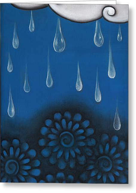 Tears Greeting Cards - Tear of a Cloud Greeting Card by  Abril Andrade Griffith