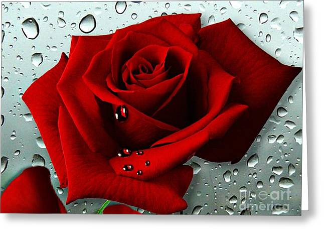 Tears From My Heart Greeting Card by Morag Bates
