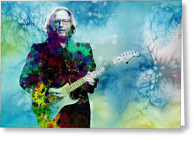 Eric Clapton Portrait Greeting Cards - Tears In Heaven 2 Greeting Card by MB Art factory