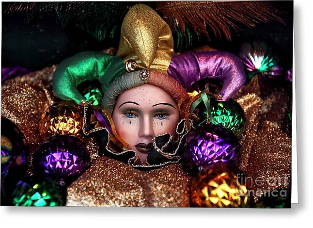 Tears Of A Jester Greeting Card by John Rizzuto