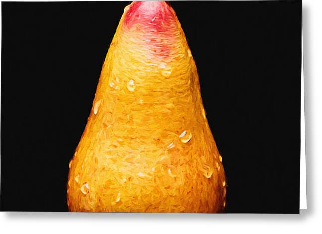 Tears Of A Sad Pear Greeting Card by Andee Design