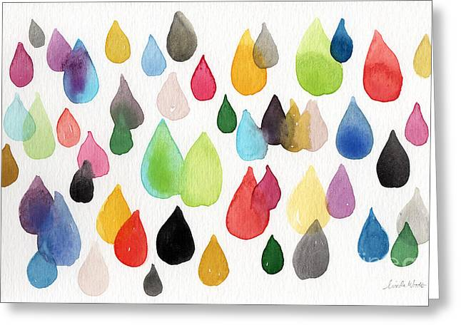 Shapes Mixed Media Greeting Cards - Tears Of An Artist Greeting Card by Linda Woods