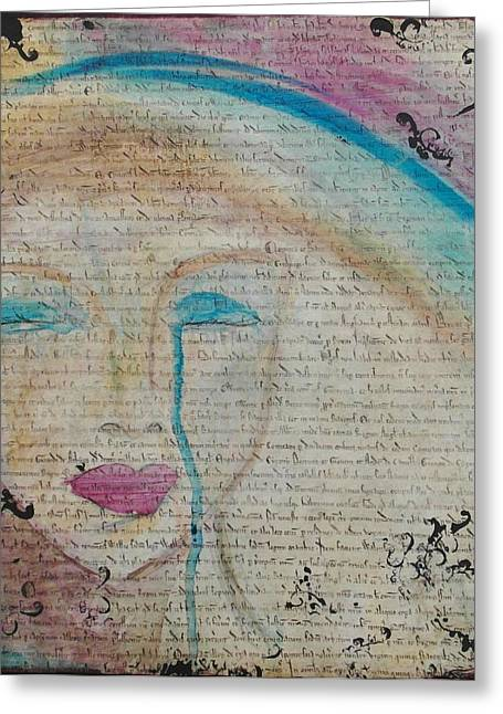 Etc. Mixed Media Greeting Cards - Tears of hope Greeting Card by Debbie Hornsby