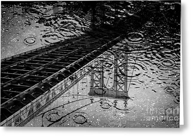 New York City Rain Greeting Cards - Tears Of New York Greeting Card by Az Jackson