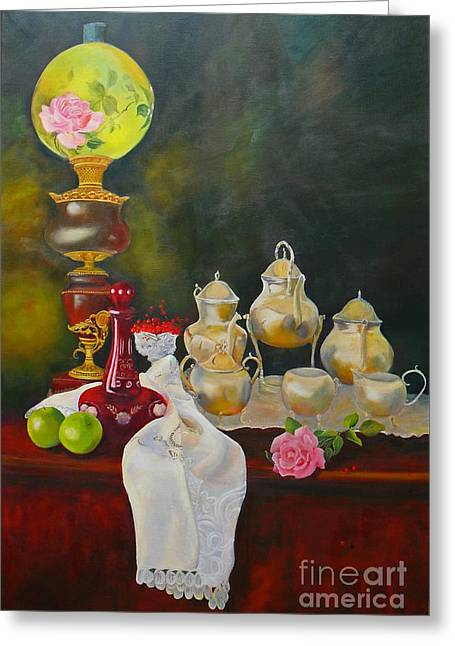 Teatime Greeting Card by Beatrice Cloake