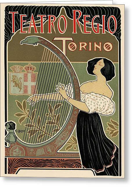 Torino Greeting Cards - Teatro Regio Torino Greeting Card by Gianfranco Weiss