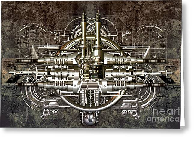 Mainboard Greeting Cards - Technically electronic background Greeting Card by Diuno Ashlee