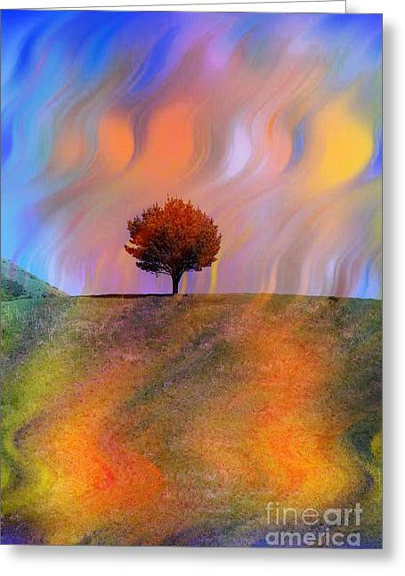 Linda Matlow Greeting Cards - Technicolor Park-Colorful Summer Greeting Card by Linda Matlow