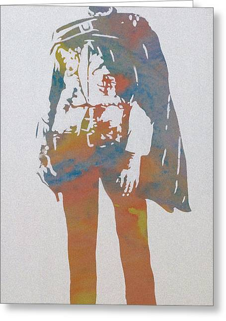 The Good The Bad Greeting Cards - Technicolour Eastwood Greeting Card by Gary Hogben