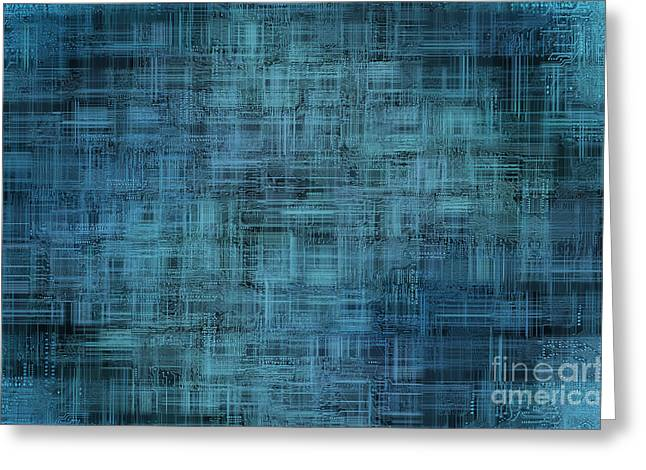 Component Digital Art Greeting Cards - Technology Abstract Background Greeting Card by Michal Boubin