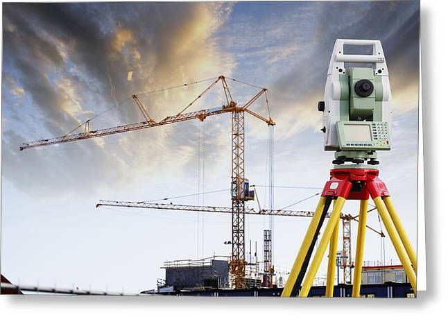 Recently Sold -  - Surveying Greeting Cards - Technology And Construction Greeting Card by Christian Lagereek