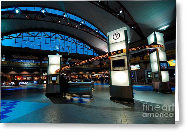 Information Greeting Cards - Technology Curves Pittsburgh International Airport Greeting Card by Amy Cicconi